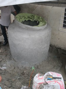 The finished project — a new rainwater harvesting tank for Taguig.