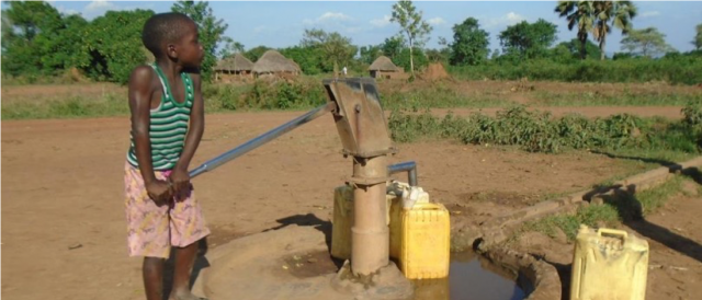 Water user at well pre-intervention